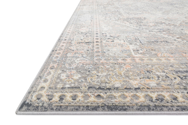 crown and birch alessi rug grey sunset detail