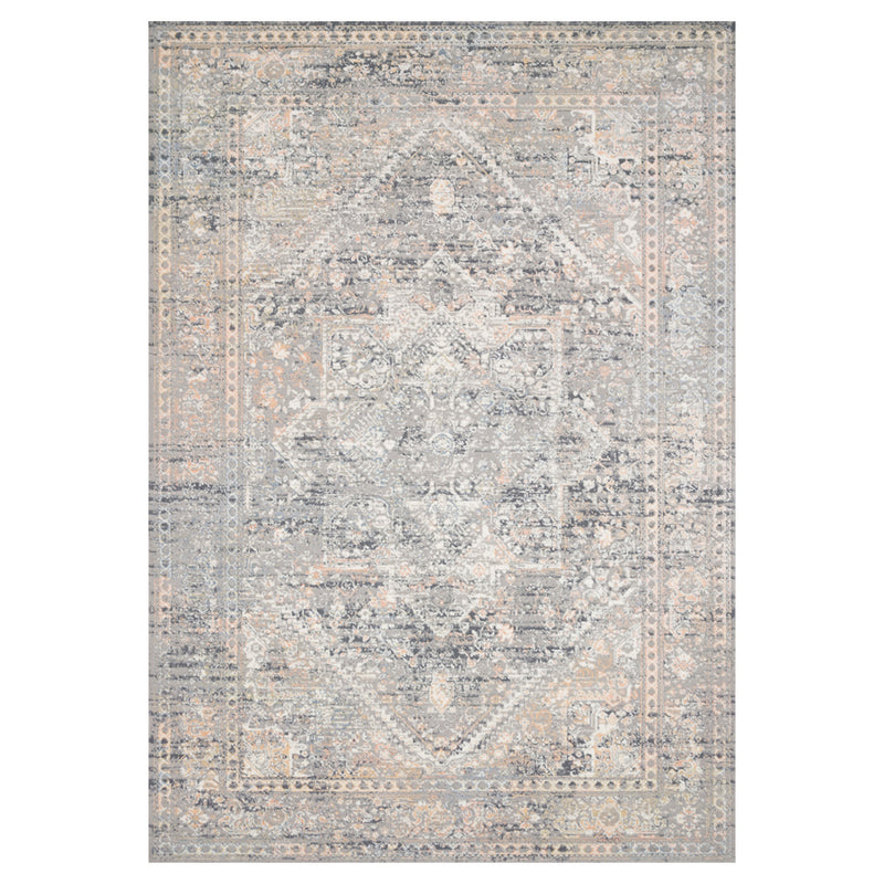 crown and birch alessi rug grey sunset front