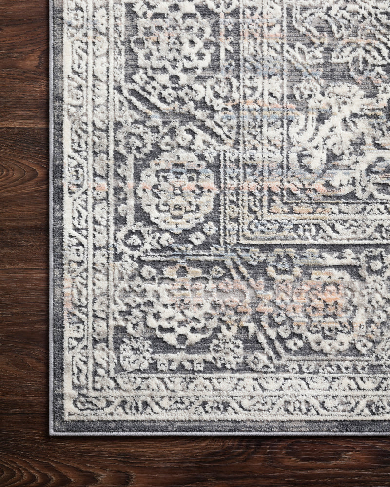 crown and birch alessi rug steel ivory corner