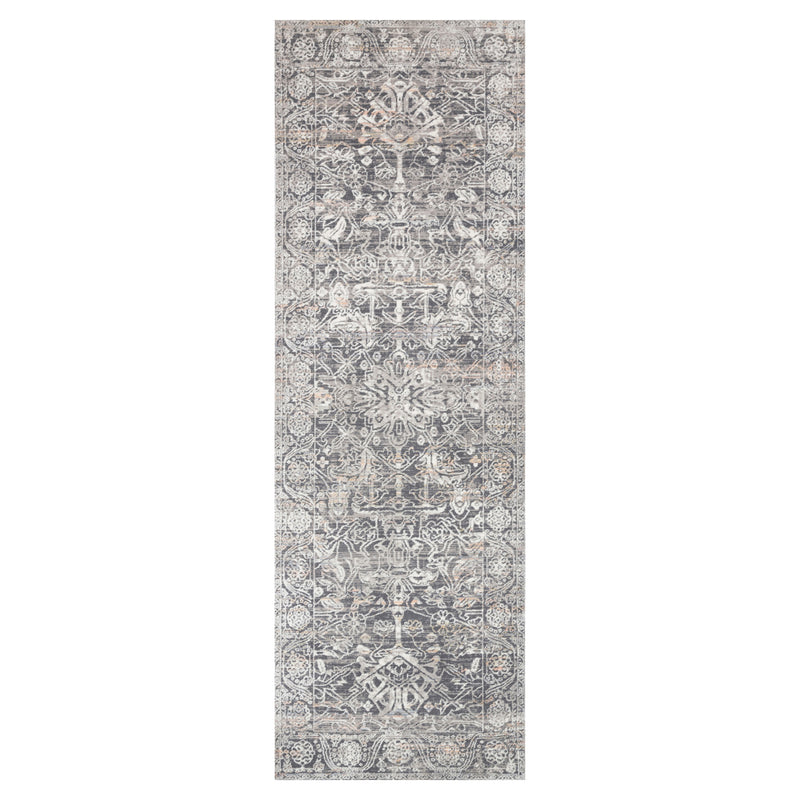 crown and birch alessi rug steel ivory runner
