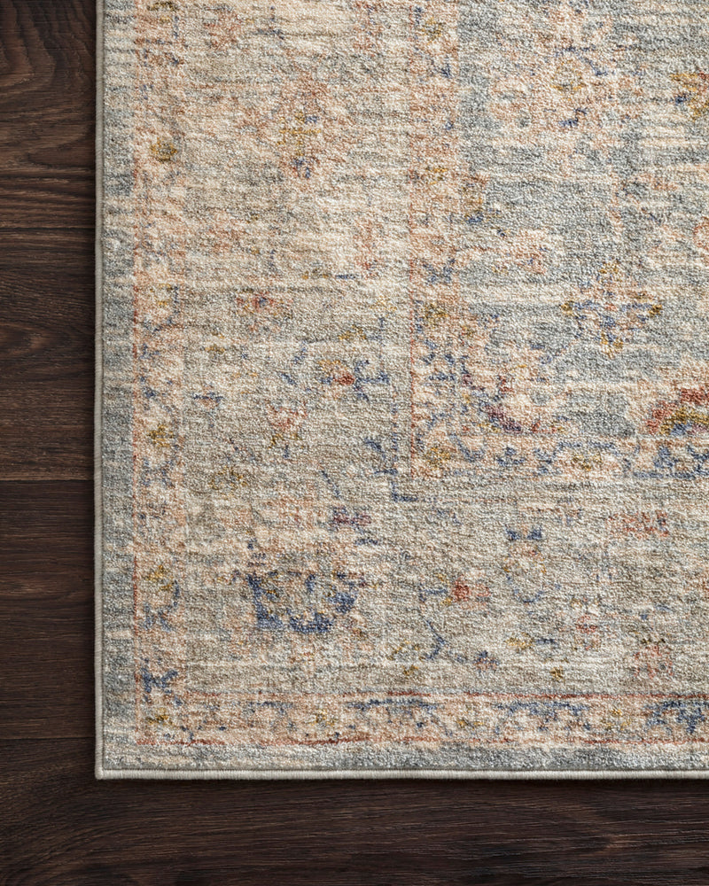 crown and birch allison rug light blue multi corner