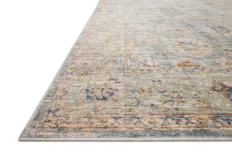 crown and birch allison rug light blue multi detail