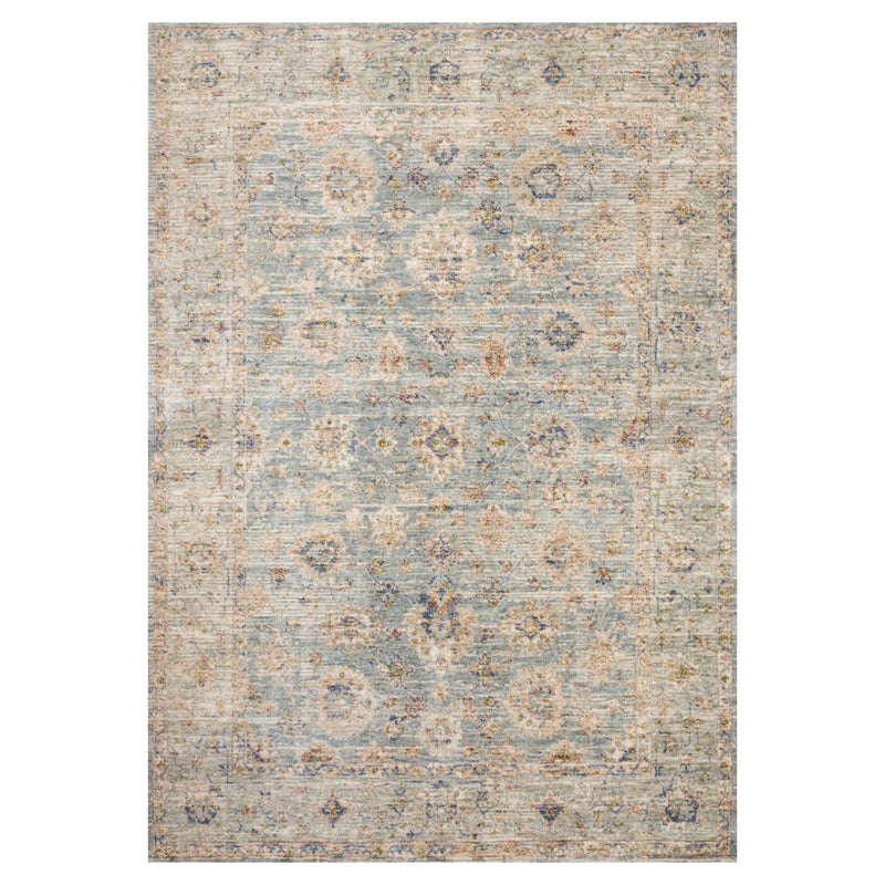 crown and birch allison rug light blue multi front