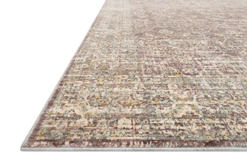 crown and birch allison rug lilac detail