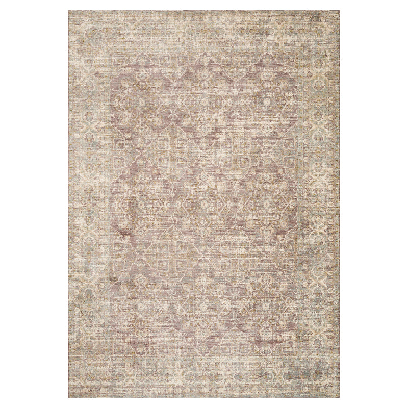 crown and birch allison rug lilac front