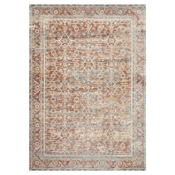 crown and birch allison rug terracotta multi front