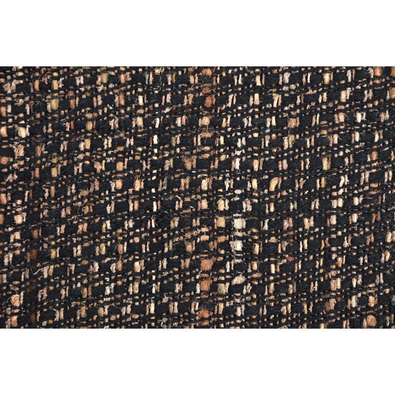 crown and birch arbor black multi knit pillow detail