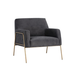 crown and birch avery occasional chair grey angle