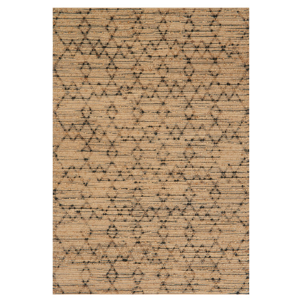 crown and birch barton rug charcoal front loloi beacon