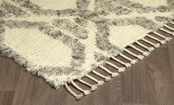 crown and birch baxter rug grey ivory corner