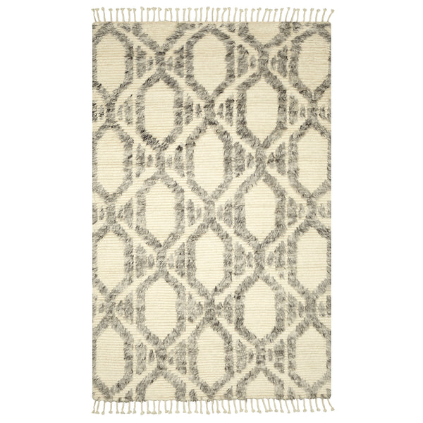 crown and birch baxter rug grey ivory front