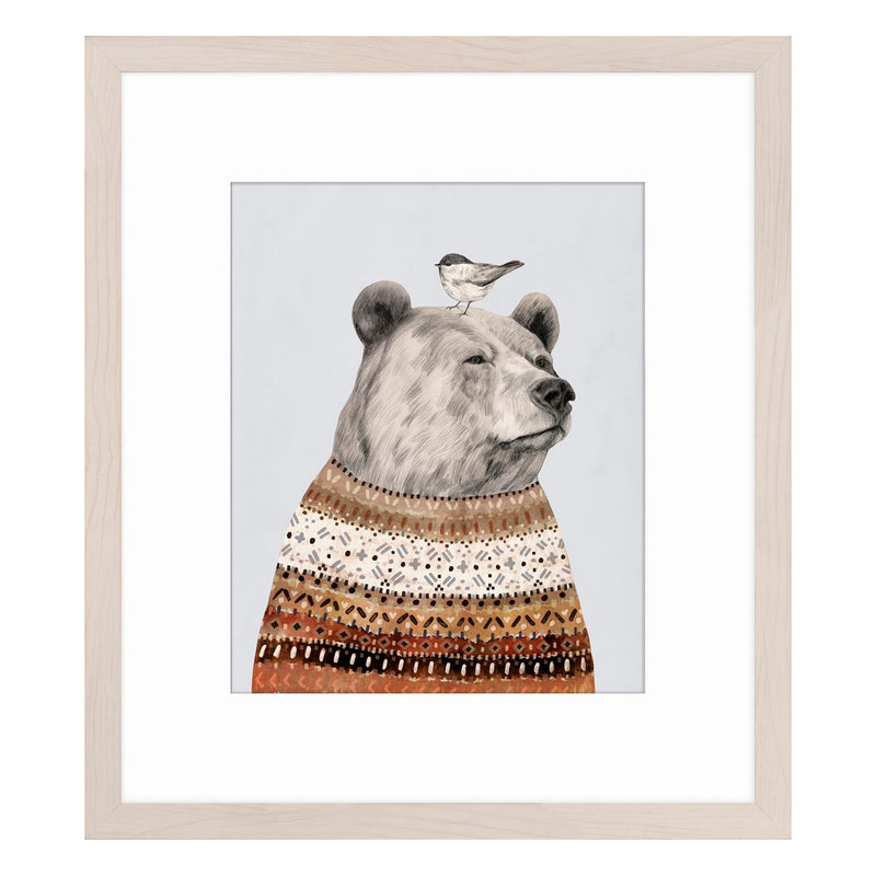 crown and birch bear portrait i
