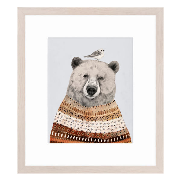 crown and birch bear portrait ii