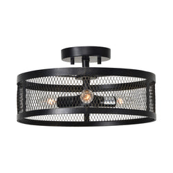 crown and birch bennet black mesh pendant front