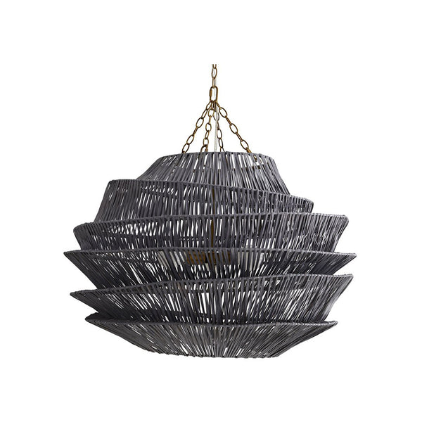 crown and birch benton pendant dark gray wash front