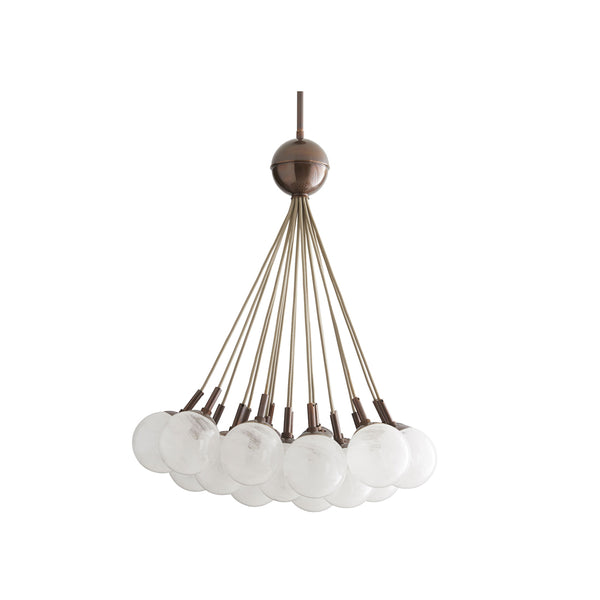 crown and birch bernadette chandelier heritage brass front