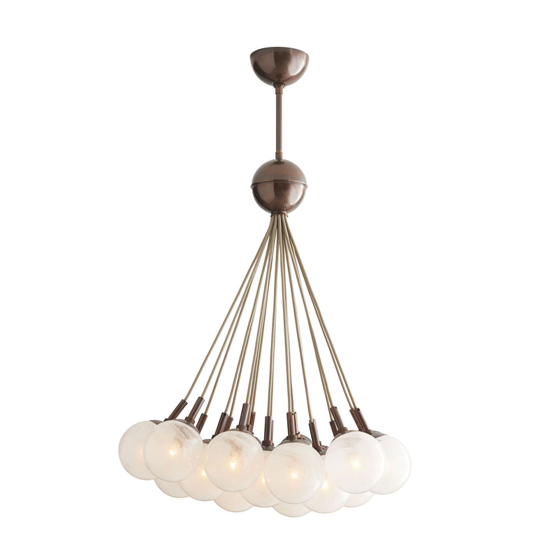 crown and birch bernadette chandelier heritage brass on