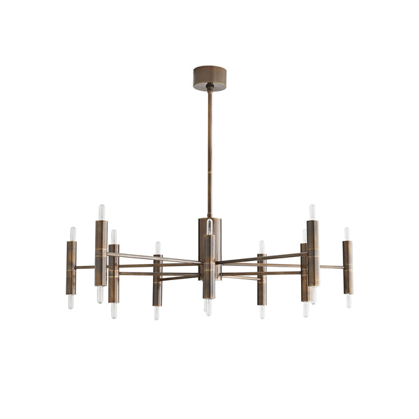 crown and birch bilings chandelier heritage brass front