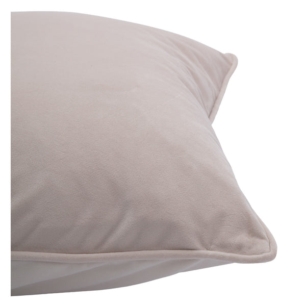 crown and birch bisque cream suede pillow side