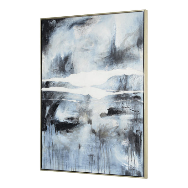 crown and birch blue grey abstract canvas angle