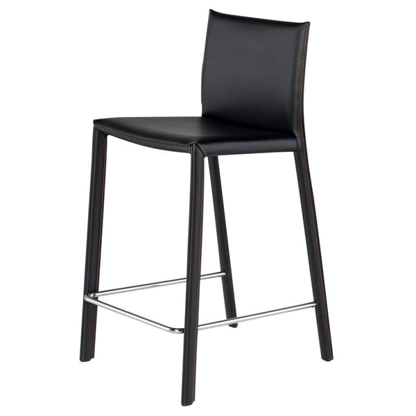 crown and birch bonnie counter stool black angle