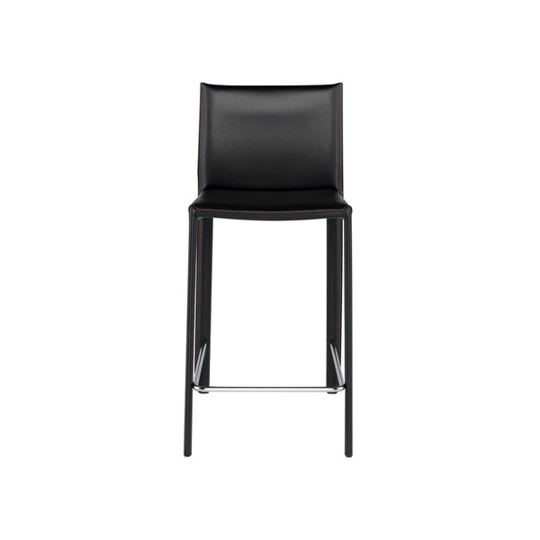 crown and birch bonnie counter stool black front
