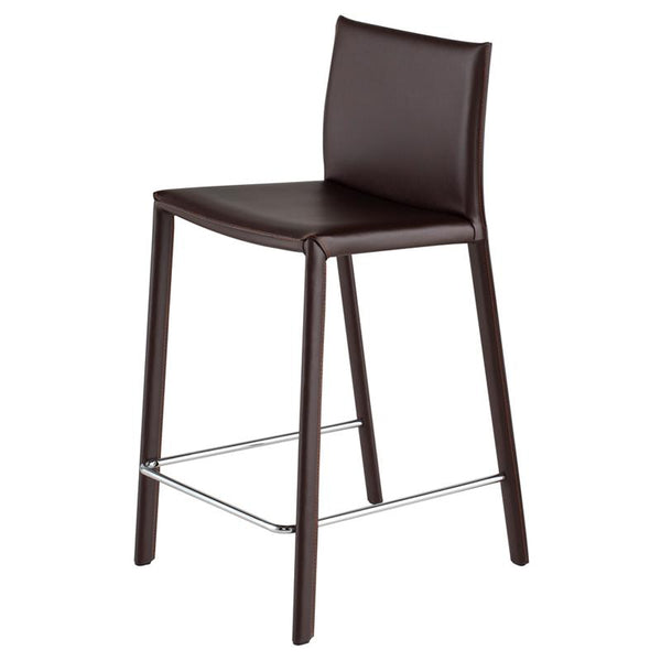 crown and birch bonnie counter stool brown angle
