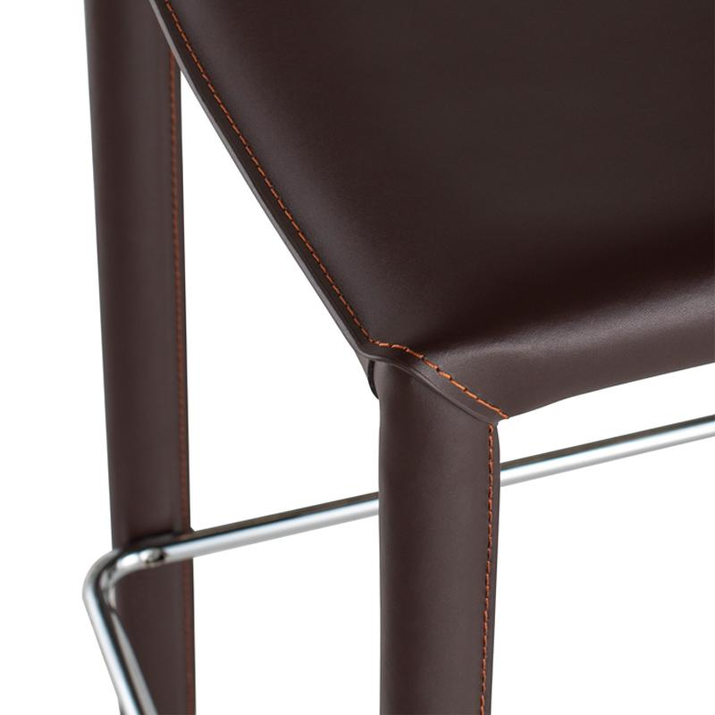 crown and birch bonnie counter stool brown detail