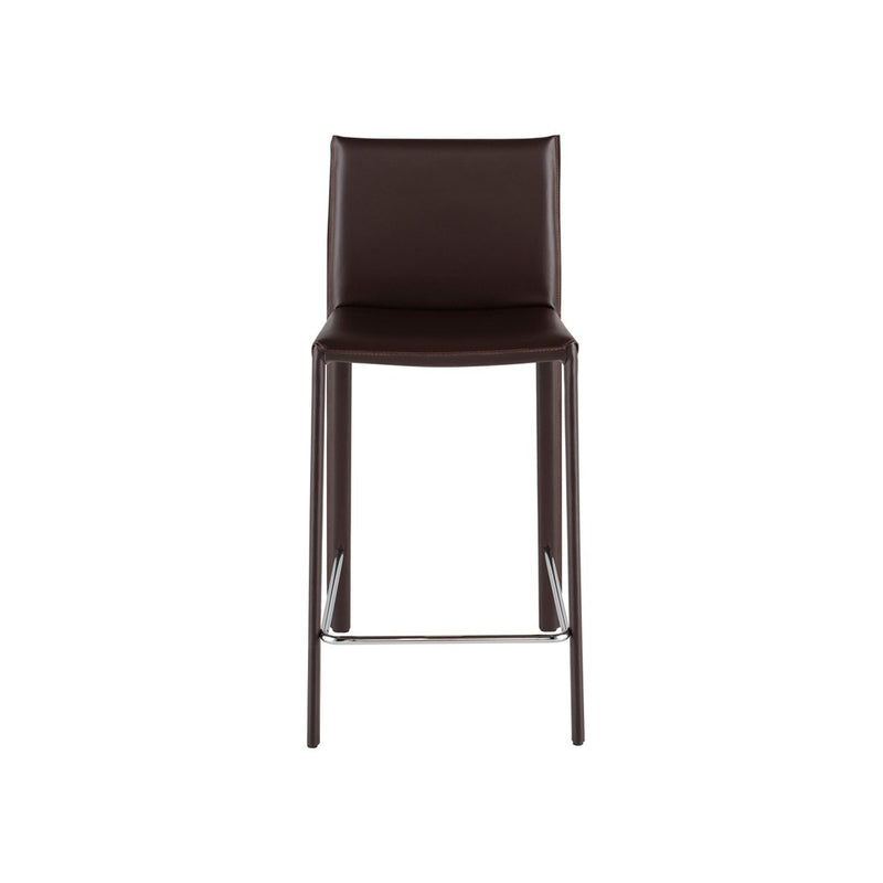 crown and birch bonnie counter stool brown front