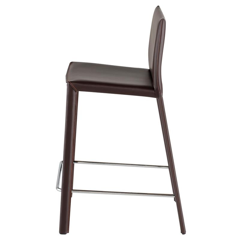 crown and birch bonnie counter stool brown side