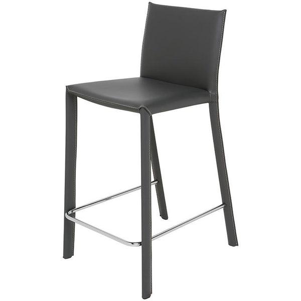 crown and birch bonnie counter stool dark grey angle
