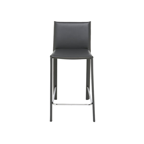 crown and birch bonnie counter stool dark grey front