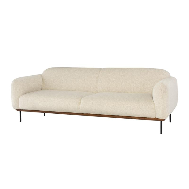crown and birch sofa boston ivory wood angle