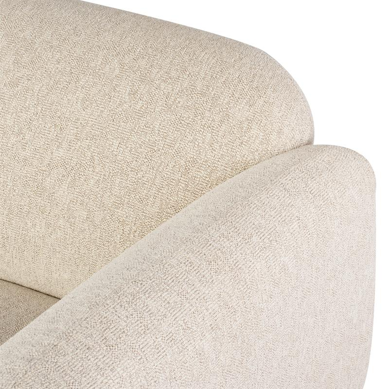 crown and birch sofa boston boucle ivory closeup
