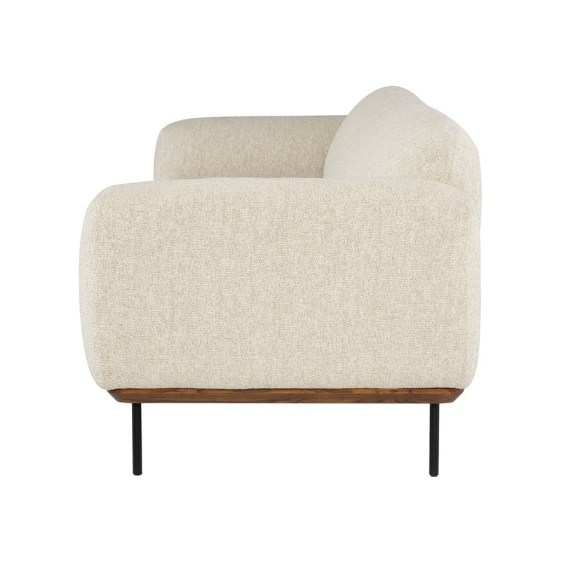 crown and birch sofa boston side ivory wood metal