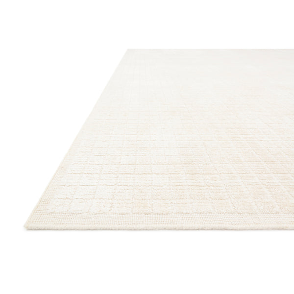 crown and birch brooklyn rug ivory detail