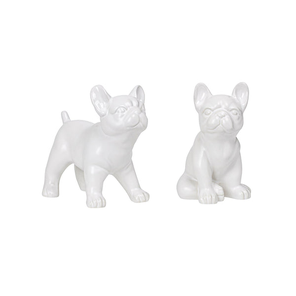 Bulldog Sitting Ceramic Sculpture