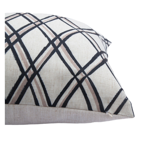 crown and birch calla crisscross pillow side