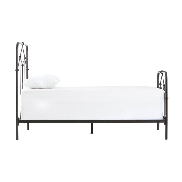 crown and birch cayde twin bed black side