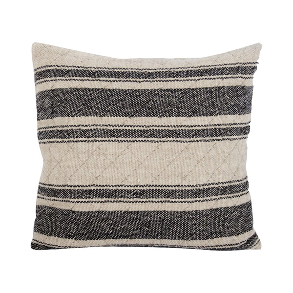 crown and birch cement stripe pillow front
