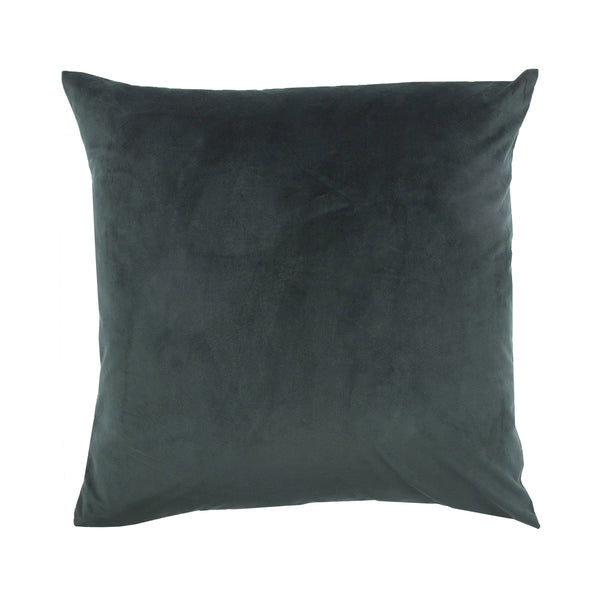 crown and birch charcoal dark suede pillow front