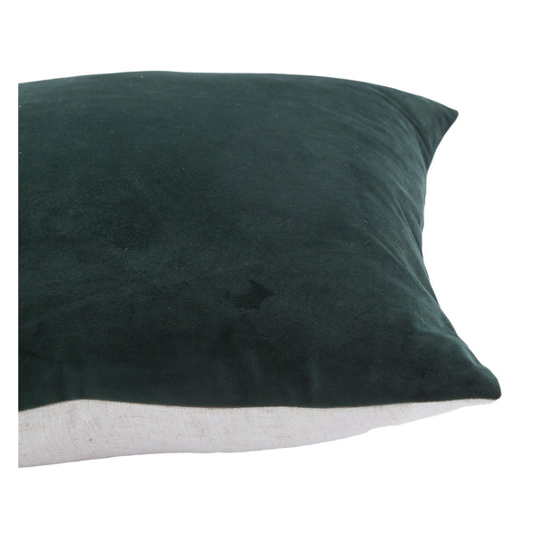 crown and birch charcoal dark suede pillow side