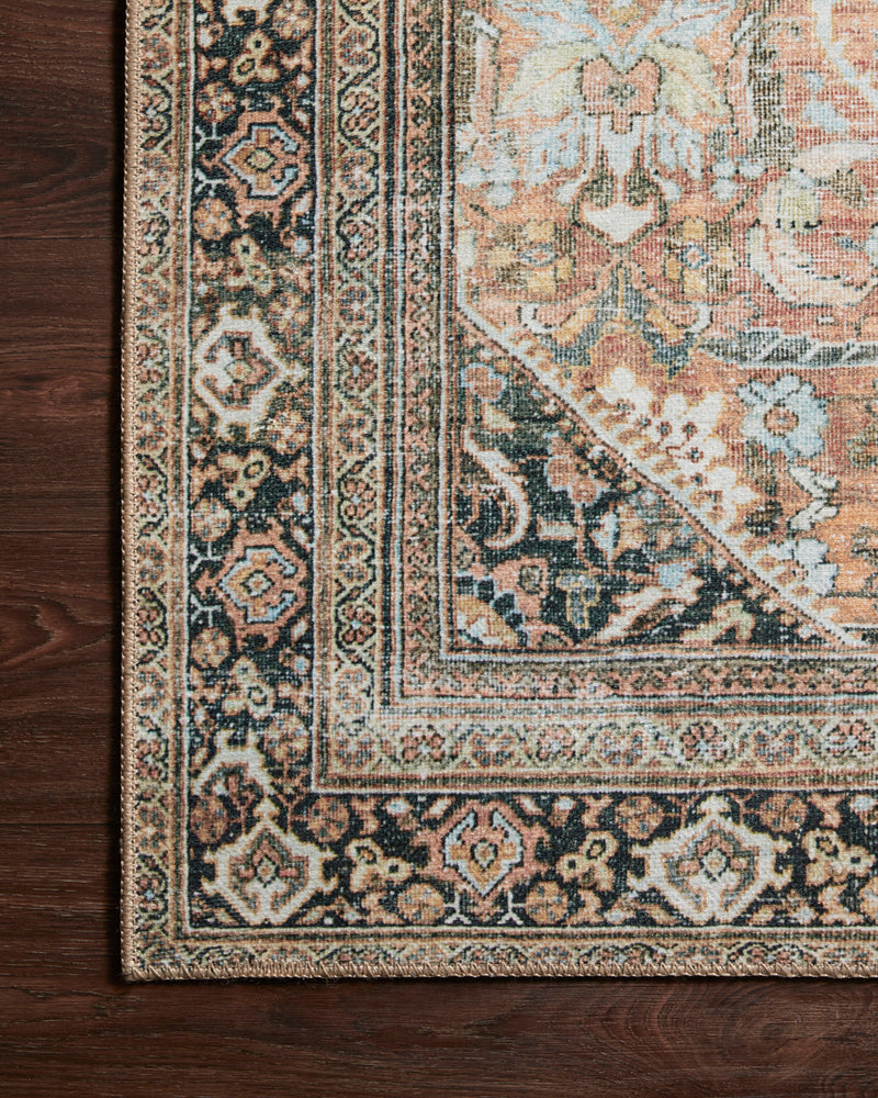 crown and birch claire rug auburn multi corner floor