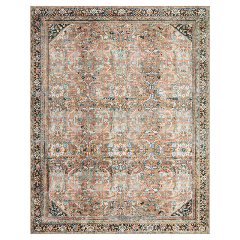 crown and birch claire rug auburn multi front