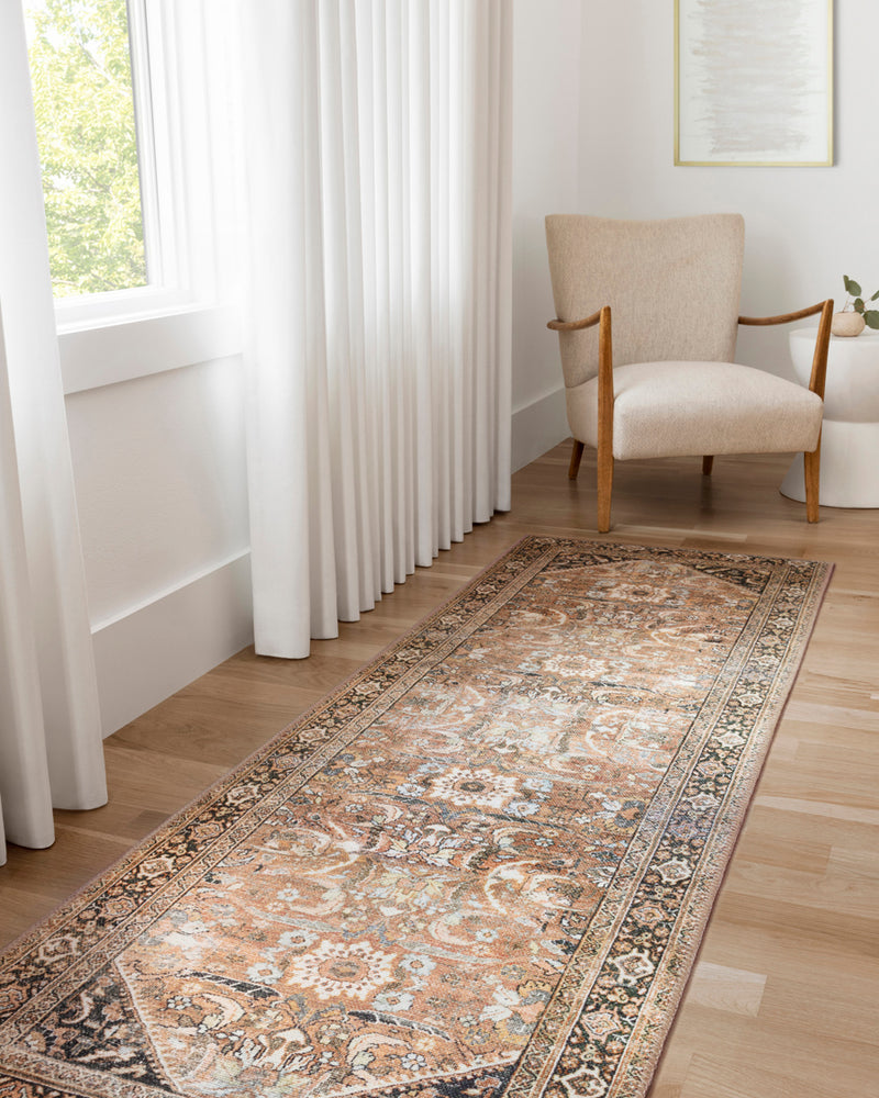 crown and birch claire rug auburn multi room three