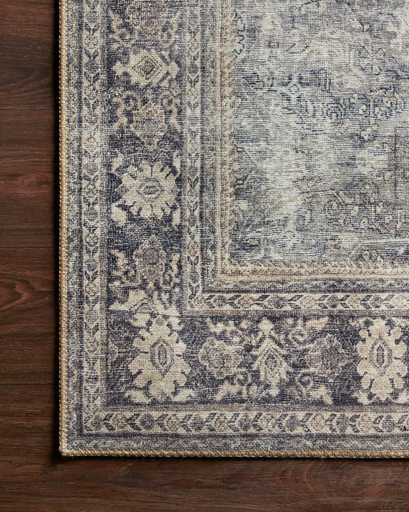 crown and birch claire rug grey charcoal corner floor