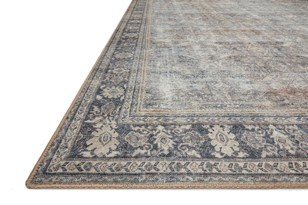 crown and birch claire rug grey charcoal corner