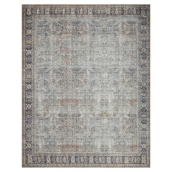 crown and birch claire rug grey charcoal front