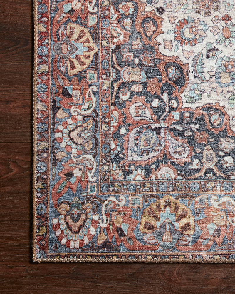 crown and birch claire rug red multi corner floor