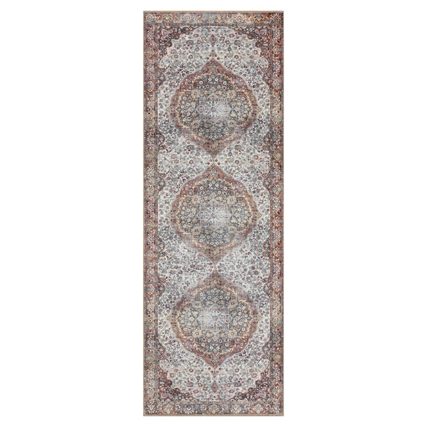 crown and birch claire rug red multi runner